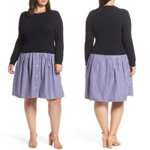 NEW! Nordstrom 1902 Sweater Poplin Dress Size 3X